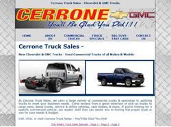 cerrone gmc chevy truck websites