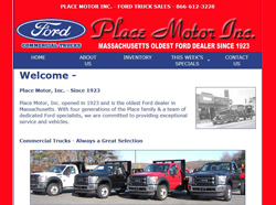 place motor ford truck sales webster mass